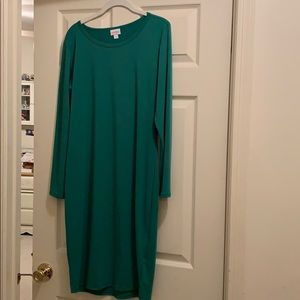 Lularoe Green Debbie Dress